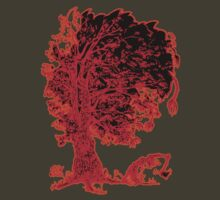 The tree - red redder orange by Marcel Ozymantra