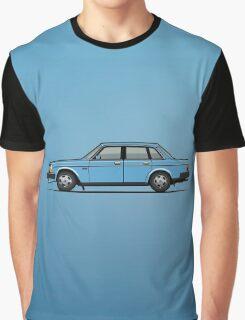 Volvo Brick 244 240 Sedan Brick Blue Graphic T-Shirt