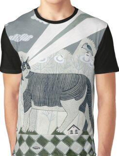 Beaming Cat Graphic T-Shirt