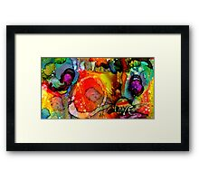 Spontaneous LOVE Framed Print