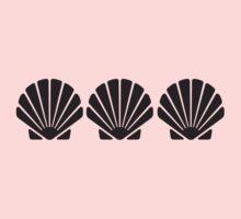 3 Sea Shells One Piece - Long Sleeve