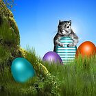 Easter Egg Hunting Squirrel by Doreen Erhardt