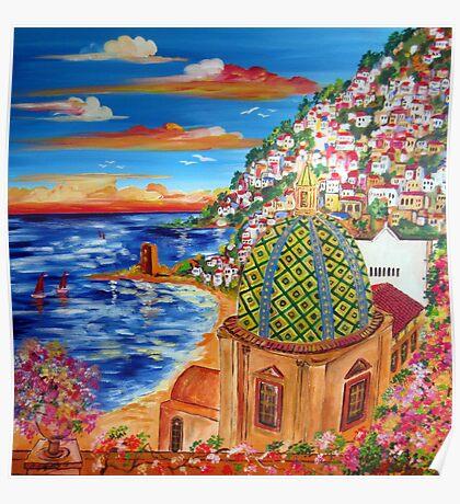 Il Golfo di POSITANO Poster