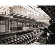 Waiting for the Ginza Train Photographic Print