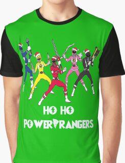 Ho Ho Power Rangers Graphic T-Shirt