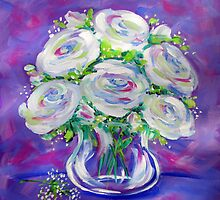 White Roses by Ira Mitchell-Kirk