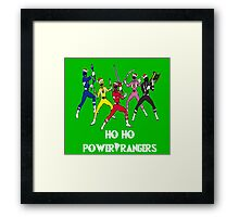 Ho Ho Power Rangers Framed Print