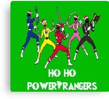 Ho Ho Power Rangers Canvas Print