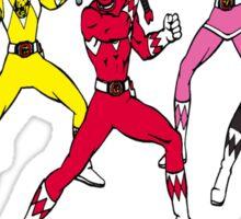 Ho Ho Power Rangers Sticker