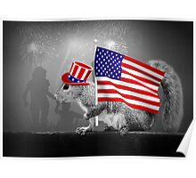 Armed with American Pride - Squirrel Poster