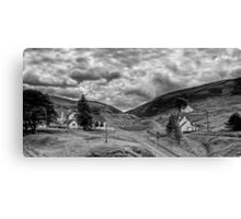 The way out of town - B&W Canvas Print