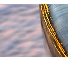 Abstract Water Fountain At Sunset Photographic Print