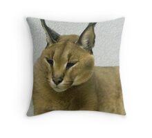 Carlos The Caracal Throw Pillow