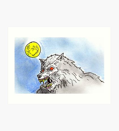 lycanthrope (colour) Art Print