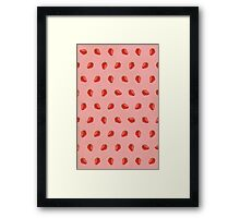 Cute Strawberry Pictures Pattern Framed Print