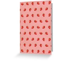 Cute Strawberry Pictures Pattern Greeting Card