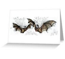 Cave Bats Greeting Card