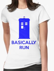 Basically, Run Womens Fitted T-Shirt