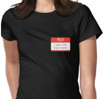 Cumber Collective Name Tag (small) Womens Fitted T-Shirt