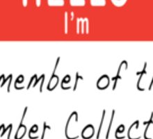 Cumber Collective Name Tag (small) Sticker