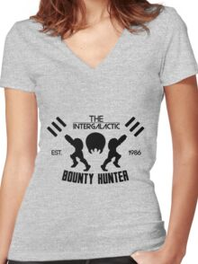 The Intergalactic Bounty Hunter Women's Fitted V-Neck T-Shirt