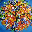 rainbow tree - vertical by cathyjacobs