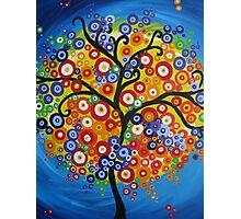 rainbow tree - vertical Photographic Print