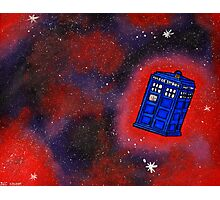 Police Box in Flight Photographic Print