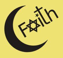 Faith - Black Graphic Kids Clothes