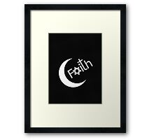 Faith - Carbon Fibre Finish Framed Print