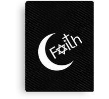 Faith - Carbon Fibre Finish Canvas Print