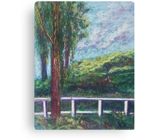 Old Temecula Field (pastel) Canvas Print