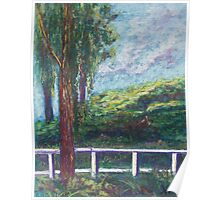 Old Temecula Field (pastel) Poster