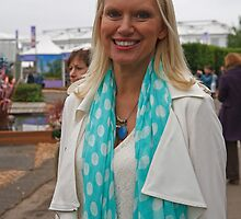 Anneka Rice at the RHS Chelsea Flower Show 2013 by Keith Larby