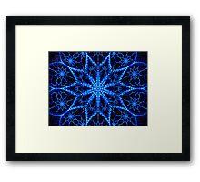 ©DA Neon Fractal VI Framed Print