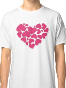 Heart Made of Hearts - Pink Classic T-Shirt