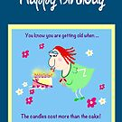 Funny Birthday card - you know you're getting old when ... by LeahG Artist