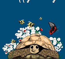 Happy Birthday Card - tortoise art by LeahG by Cartoonistlg