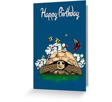 Happy Birthday Card - tortoise art by LeahG Greeting Card