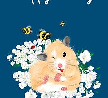 Happy Birthday Card - Hamster Dance art by LeahG by Cartoonistlg