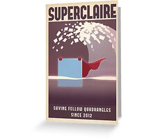 SUPERCLAIRE - Thomas Was Alone Greeting Card