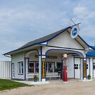 Standard Oil Gas Station on Route 66, Odell, Il by swtrekker