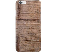 Close-up of wooden board iPhone Case/Skin