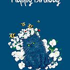 Happy Birthday Card - Persian Kitten by LeahG Artist