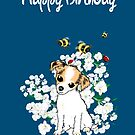Happy Birthday Card - Chihuahua Puppy Art by LeahG Artist