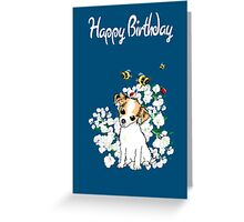 Happy Birthday Card - Chihuahua Puppy Art Greeting Card