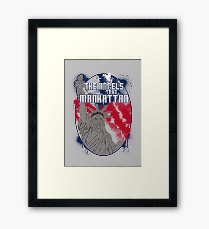 the angels take Manhattan Framed Print