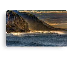Frosty Coalcliff cliffs Canvas Print
