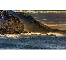 Frosty Coalcliff cliffs Photographic Print