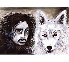 Jon Snow & The White Wolf Photographic Print